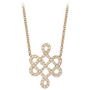 Collier Or Jaune 18k Serti de Diamants
