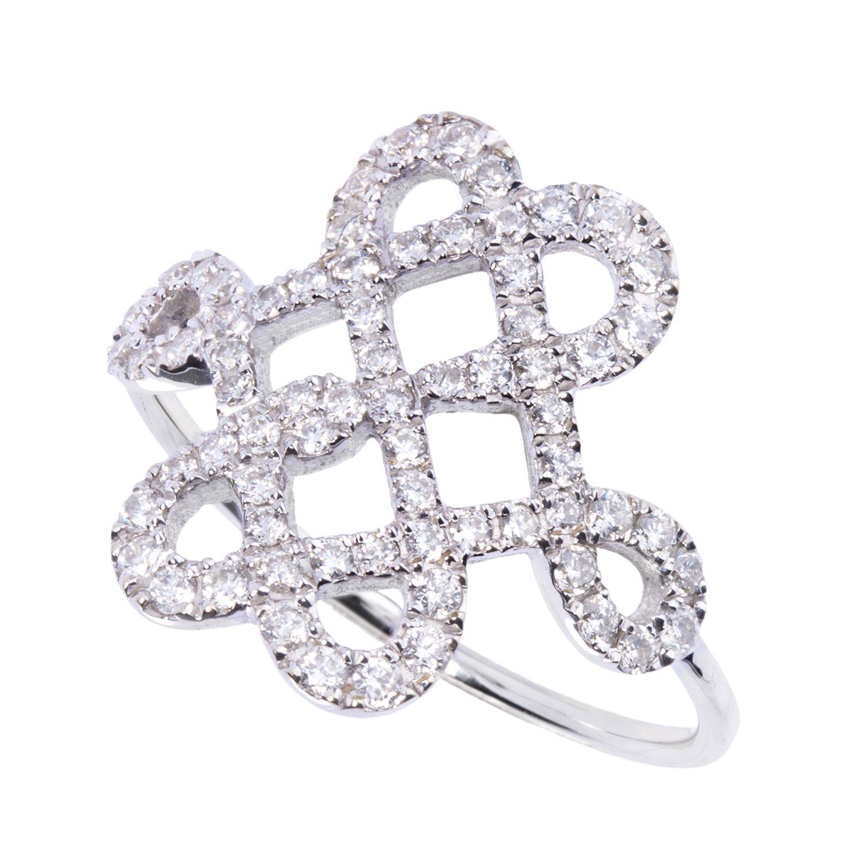 Bague Or 18k Parsemée de Diamants