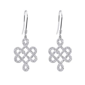 18K White Gold Earrings Set with Diamonds