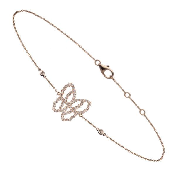 Bracelet papillon BRA-LIVETODAY-BRUN-B0811-MD-PG