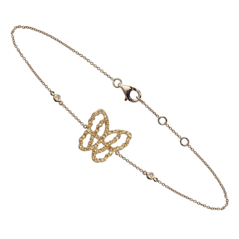 Bracelet papillon BRA-LIVETODAY-JAUNE-B0811-YS-YG