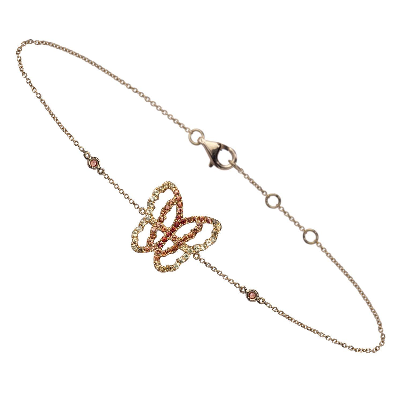 Bracelet papillon BRA-LIVETODAY-ORANGE B0811-OS-YG