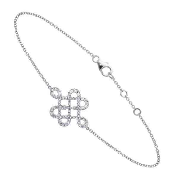 Bracelet Or Gris 18k pavé de diamants