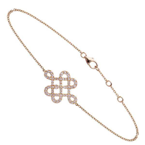 Bracelet Or Jaune 18k pavé de diamants