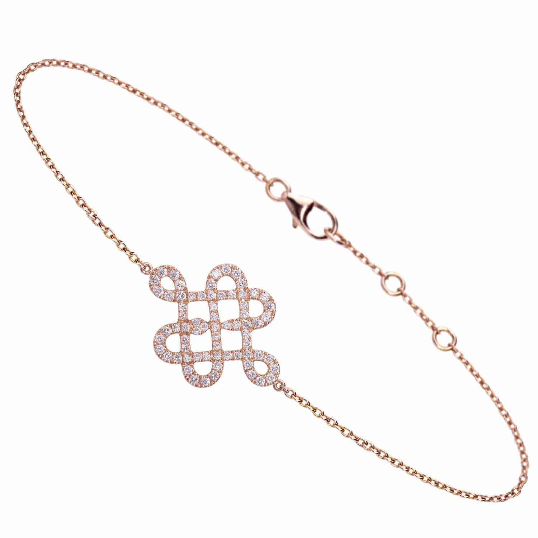 Bracelet Love me Knot or rose