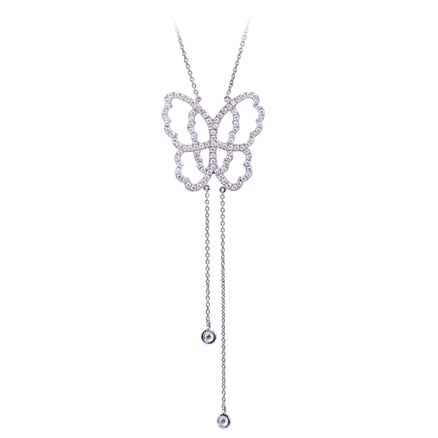 Collier Papillon Or 18k Serti de Diamants - Live Today