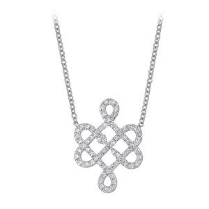 Collier en or 18 k pavé de diamants