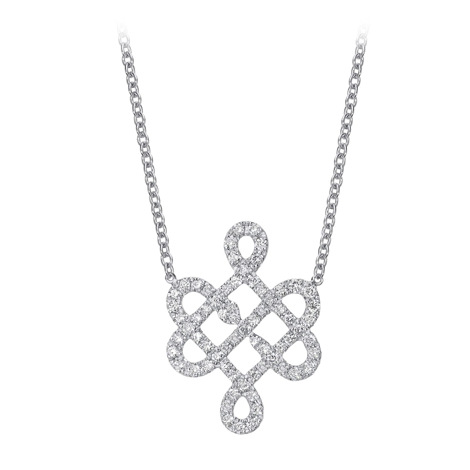 Collier en or 18 k pavé de diamants