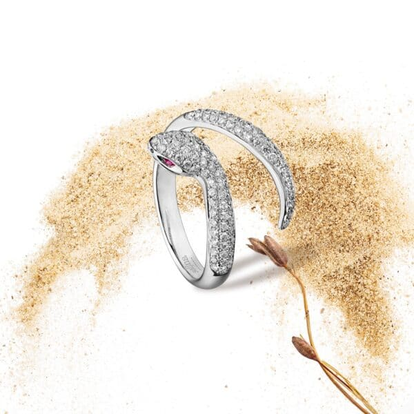 Bague Serpent Or Gris