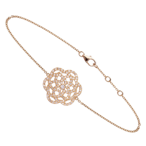 Bracelet 18k Or Jaune Serti de Diamants - Petit Modèle - Orient Express