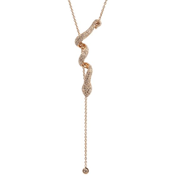 Collier Serpent Or et diamants