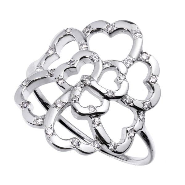 Bague Lucky Love Or 18k Parsemé de Diamants