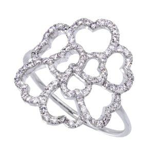 Bague Lucky Love Or gris 18k Serti de Diamants