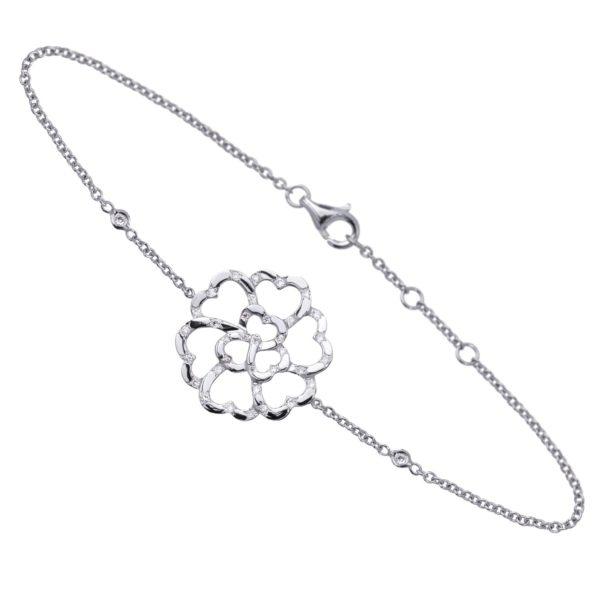 Bracelet Lucky Love Or 18k Parsemé de Diamants