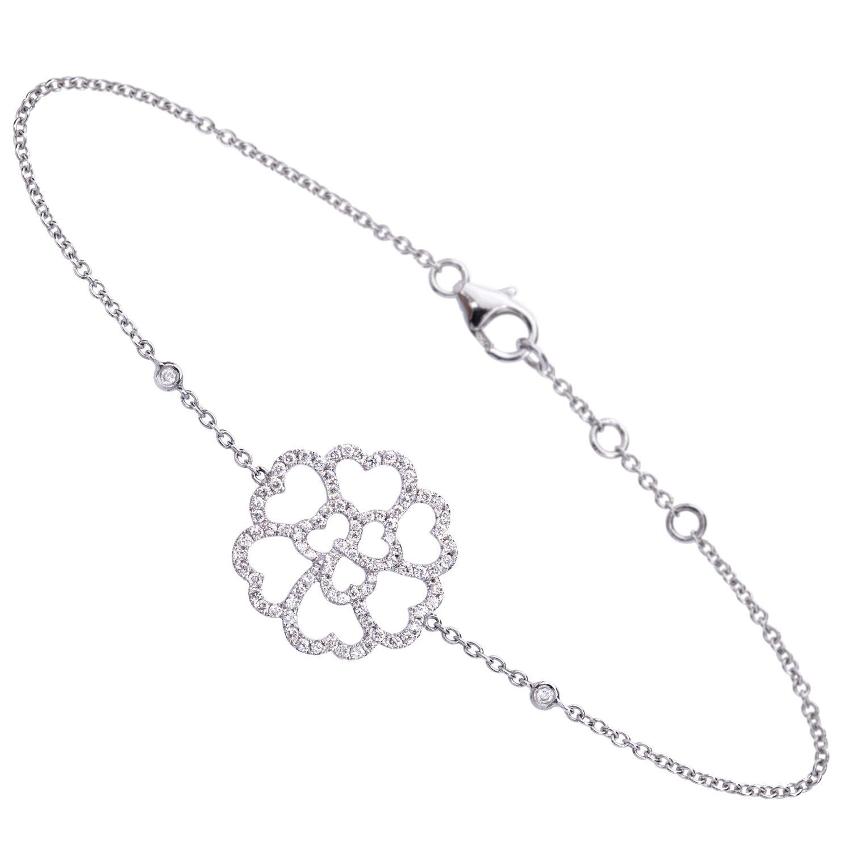Bracelet Lucky Love Or 18k Serti de Diamants