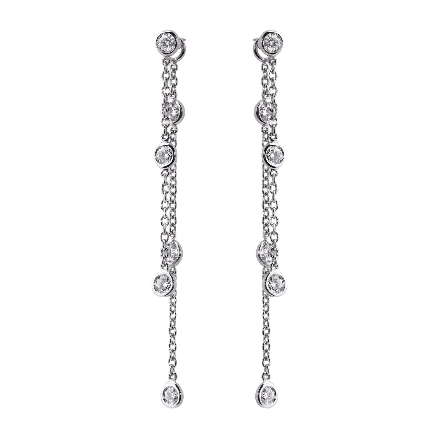 Boucles D'oreilles Constellation Or 18k Serties de diamants