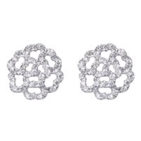 Boucles D'oreilles Lucky Love 18k Mini Or Gris