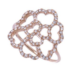 Bague Lucky Love Or 18k Serti de Diamants