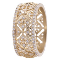 Bague Montefiore PM en or Jaune et diamants
