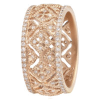 Bague Dentelle Montefiore PM en or Rose et diamants