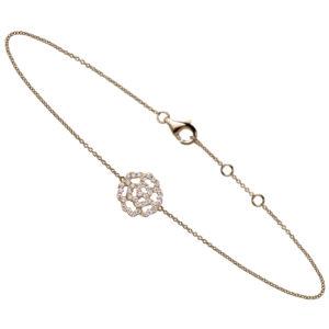 Bracelet Lucky Love Mini Or 18k Serti Diamants