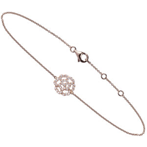 Bracelet Lucky Love Mini Or 18k Serti Diamants
