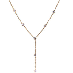 Collier Constellation souple Pendant Or 18k Serti de Diamants