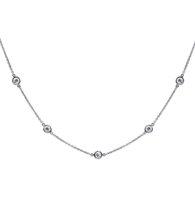 Collier Constellation Souple Or 18k Serti de Diamants