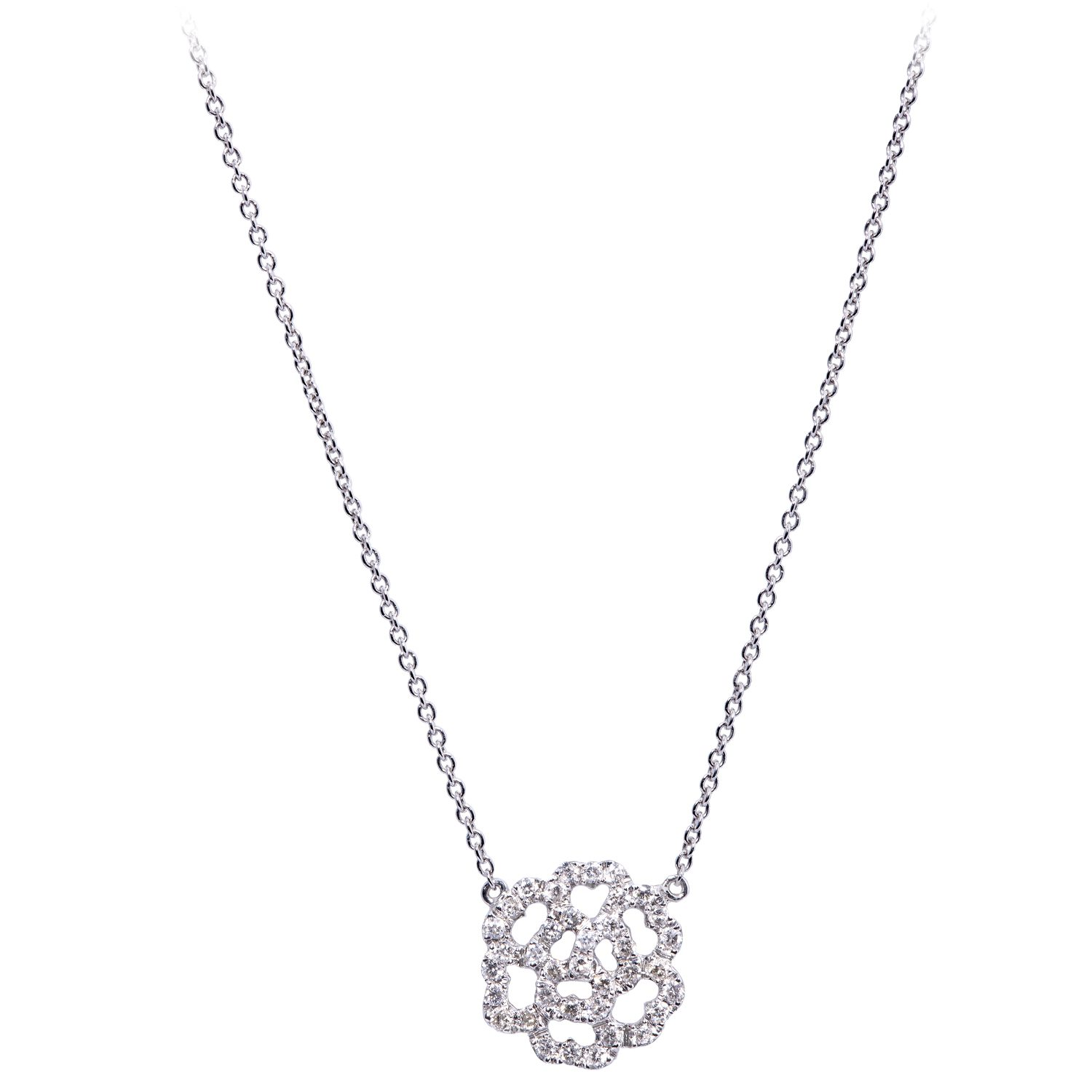 Collier Mini Lucky Love Or 18k serti Diamants