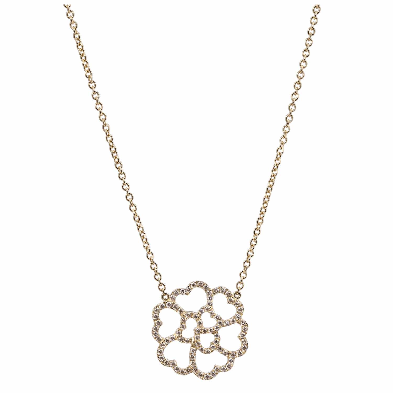 Collier Or Diamants Bruns