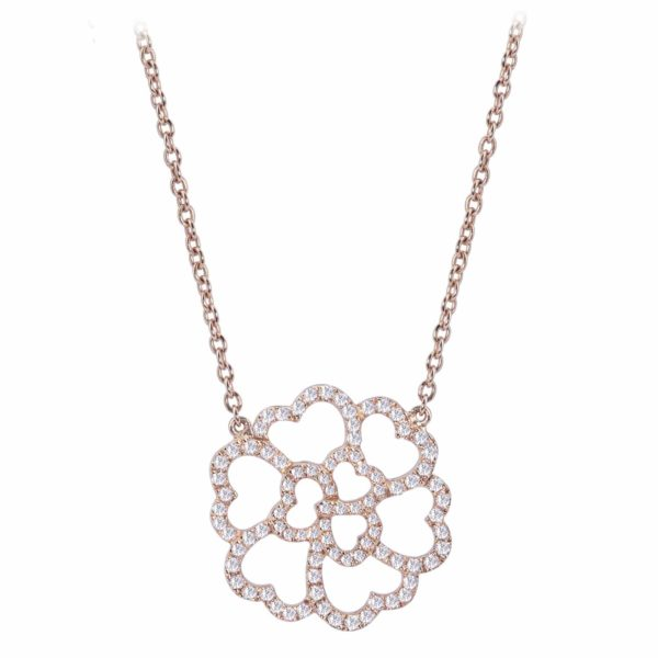 Collier Or Rose Lucky Love