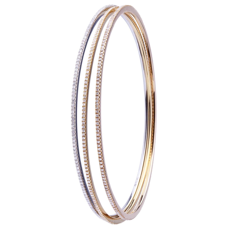 Set de 3 Bracelets Delight sertis de diamants