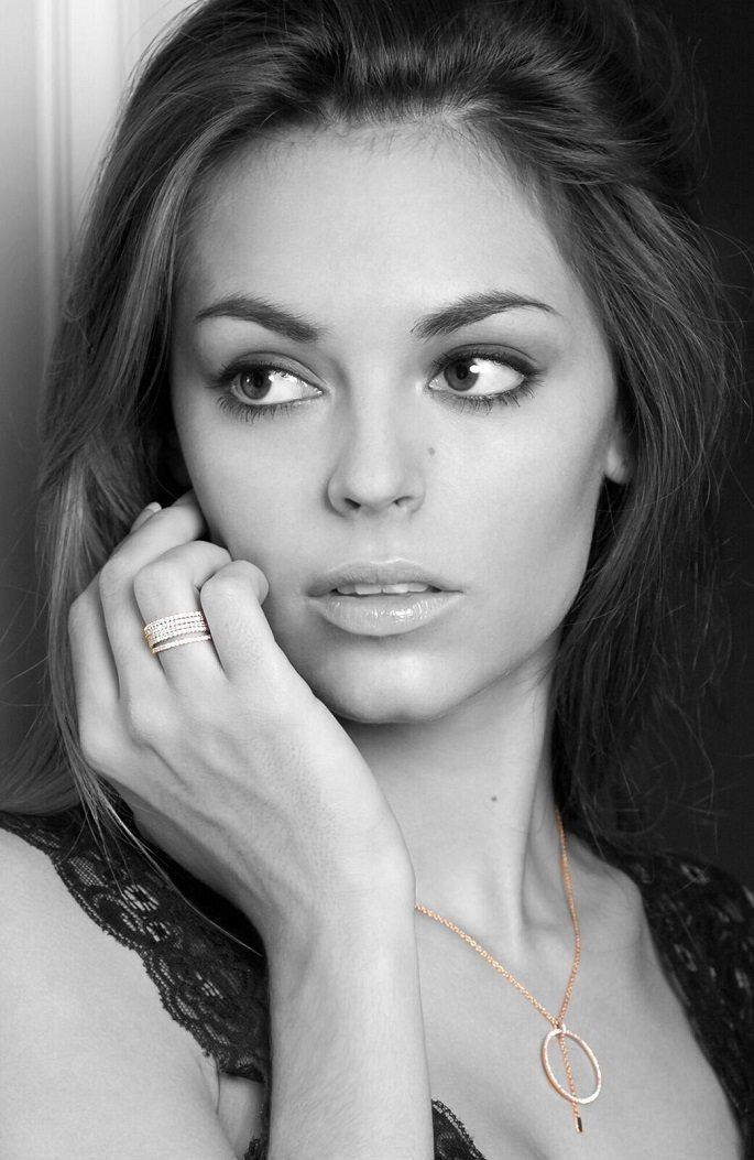 Alexia bague et collier delight noir et blanc