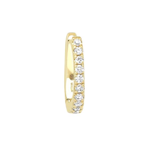 boucle d'oreille or jaune et diamants