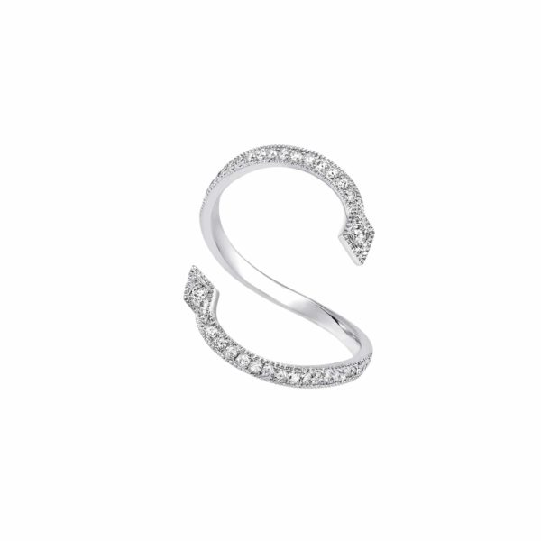 Bague or Blanc Diamants Gris