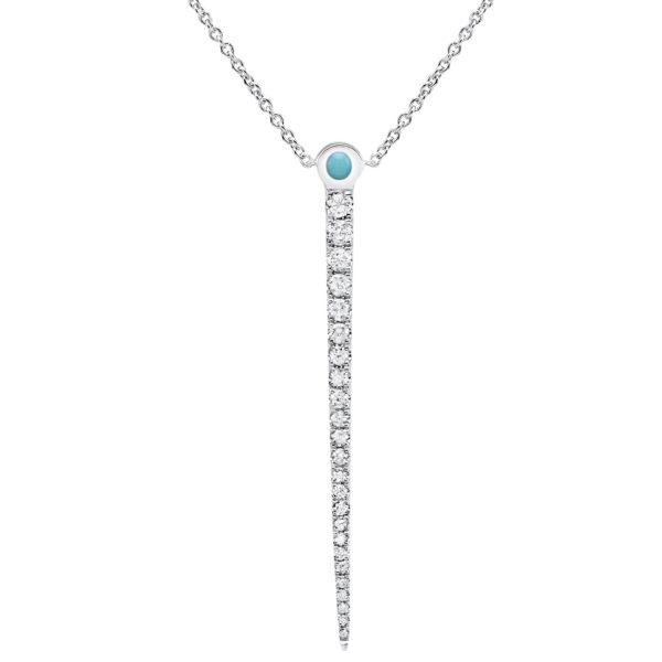 Collier Pendant Or Blanc et diamants