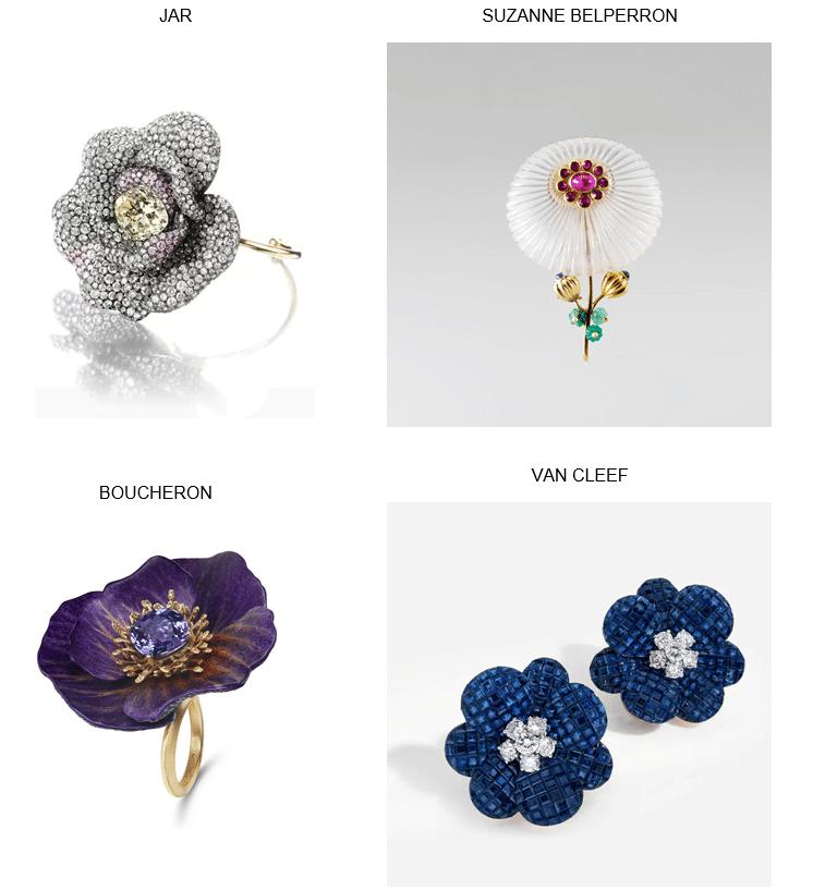 Bagues fleurs dans la joaillerie contemporaine
