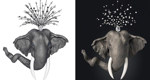 Diamant et éléphant