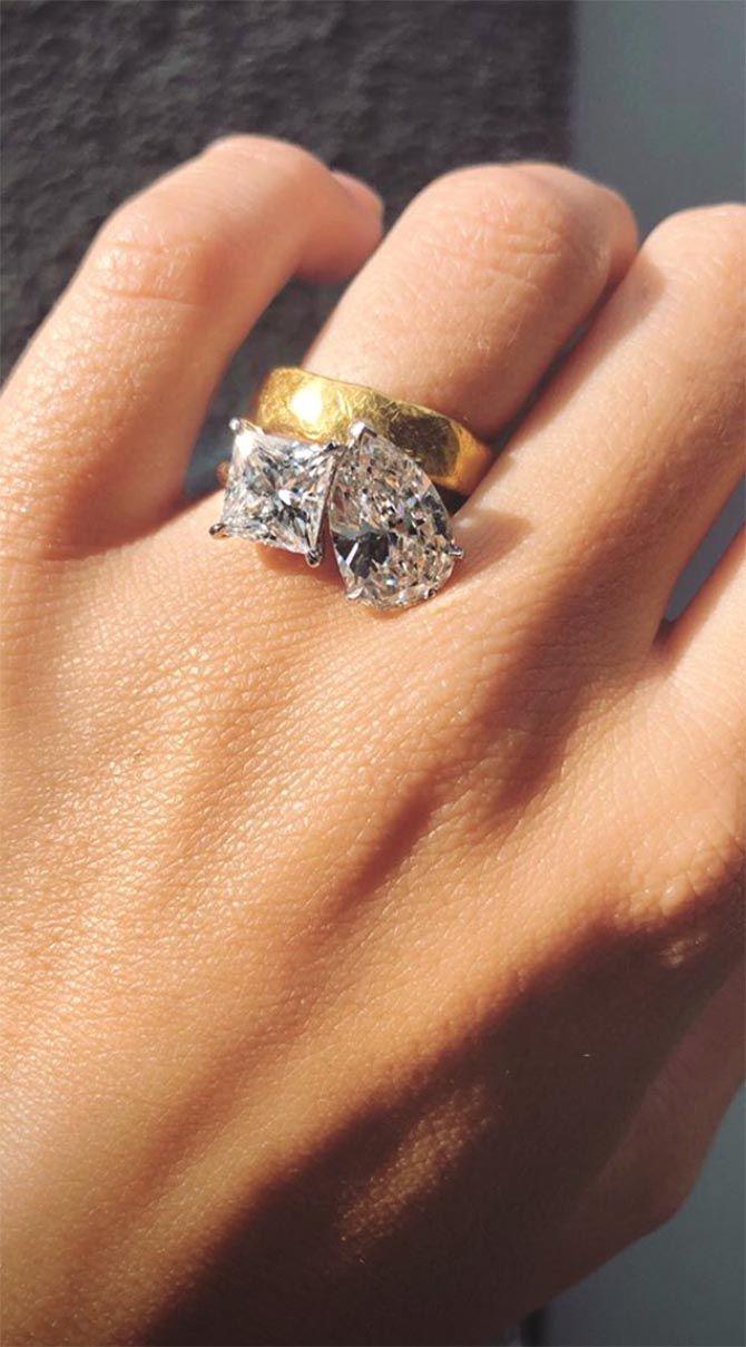 Bague de fiançailles d'Emily Ratajkowski