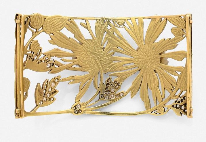 plaque de cou de René Lalique or jaune