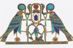 PECTORAL EGYPTIEN - OR ET PIERRES SEMI-PRECISEUSES