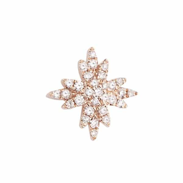 Piercing femme Diamant Star or rose