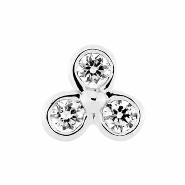 Piercing-oreille-femme-3-Diamants-or-gris-18k-de-face