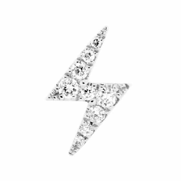 Piercing-oreille-femme-eclair-or-gris-18k-de-face