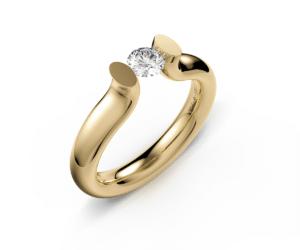 Bague Solitaire diamant de la maison allemande Niessing