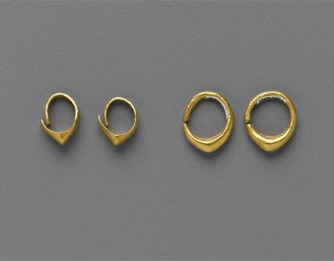 Anneaux d'or sumériens - 2600 AVJC